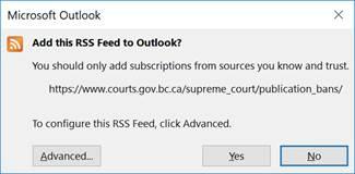 Supreme Court - Publications Bans Nofification